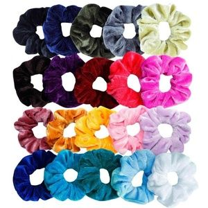 20 pcs/Lot Lady Hair Scrunchies Stretchy Hair Ties